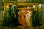 Dante Gabriel Rossetti (1828-1882)  Dante's Dream at the Time of the Death of Beatrice  Oil on canvas, 1871  317.5 x 210.8 cm (10' 5